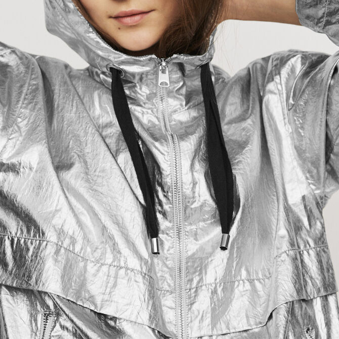 Windproof coat with hood - Coats - MAJE
