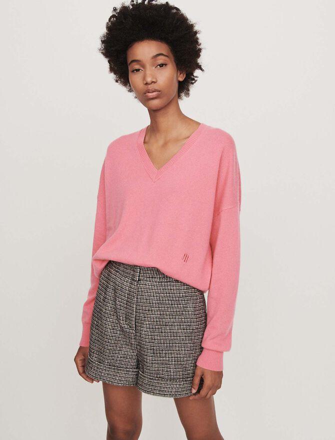 Cashmere V-neck sweater -  - MAJE