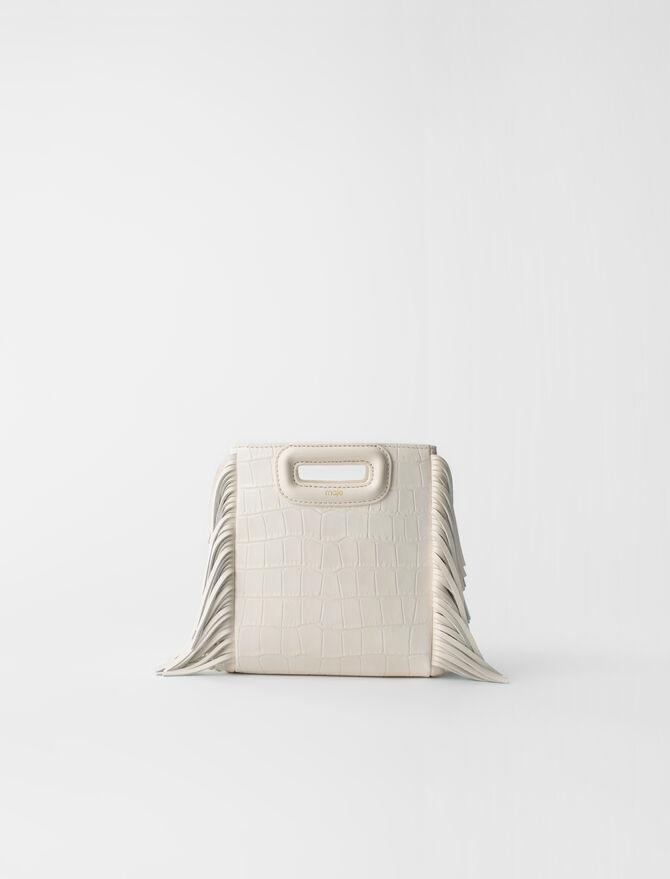 Crocodile-effect leather Mini M bag -  - MAJE
