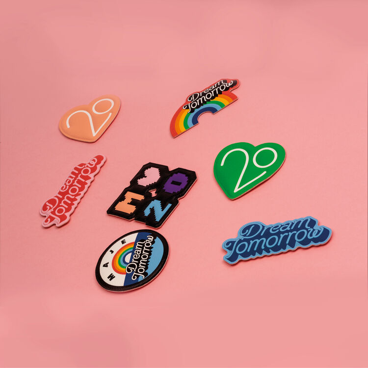 Patch Badge X 20 years : See all color Pink