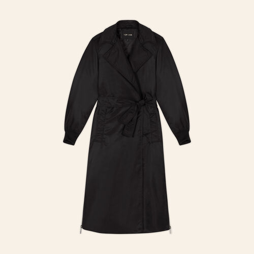 Trench coat with side zips : Coats color Black 210