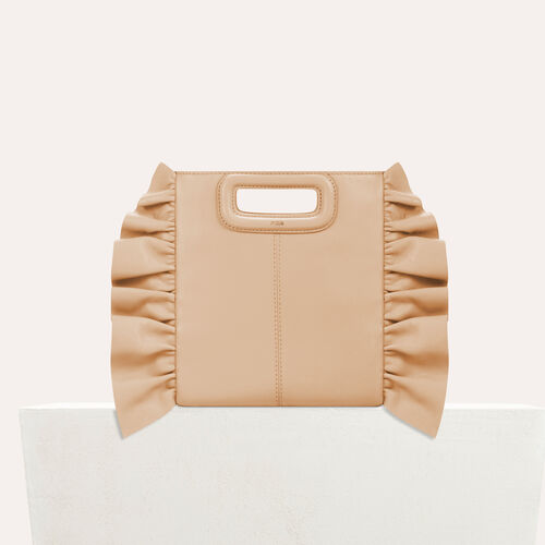 Frilled M bag : Bags color Red