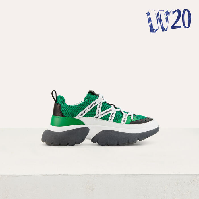 W20 Urban sneakers in nylon : See all color Green