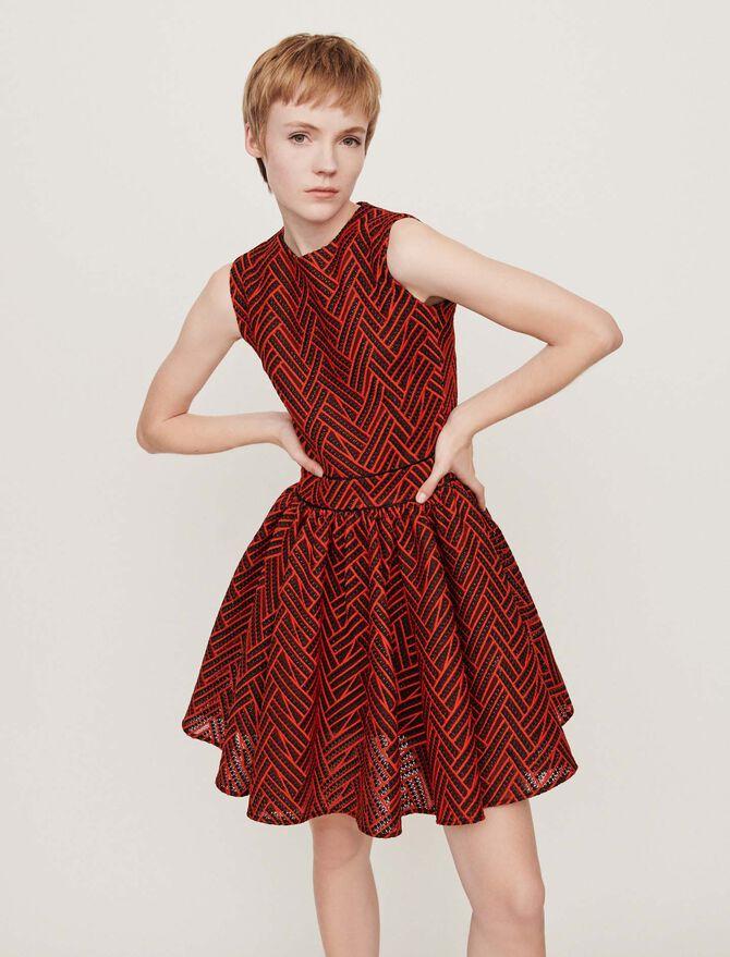 Basket-stitched knit dress - Best Sellers - MAJE