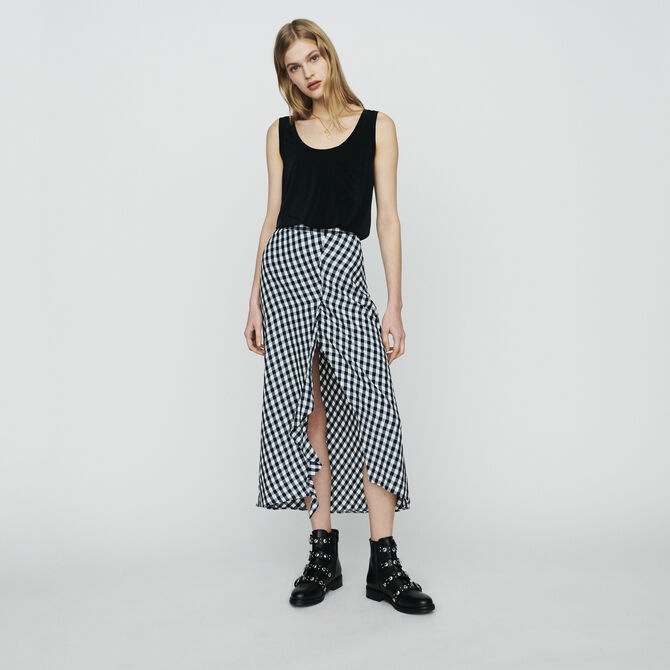 Skirt with vichy print - See all - MAJE