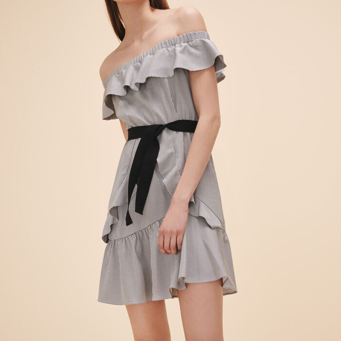 Striped short dress -  - MAJE