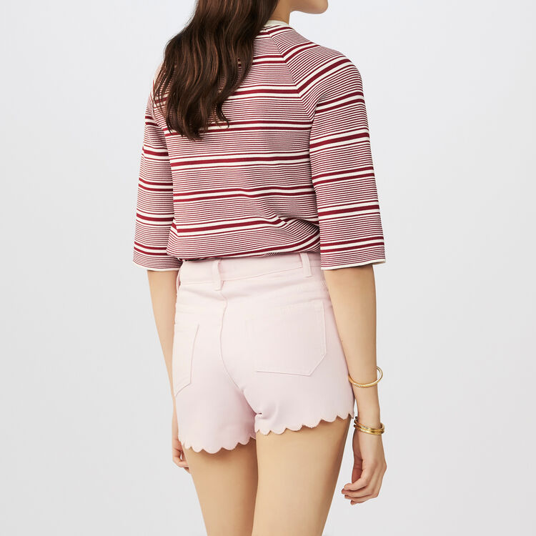 Denim short : Skirts & Shorts color Pink