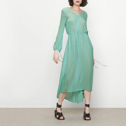 Long dress with drawstring : Dresses color Mint