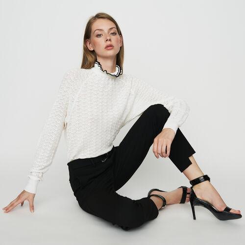 Straight crepe pant : Trousers & Jeans color Black 210