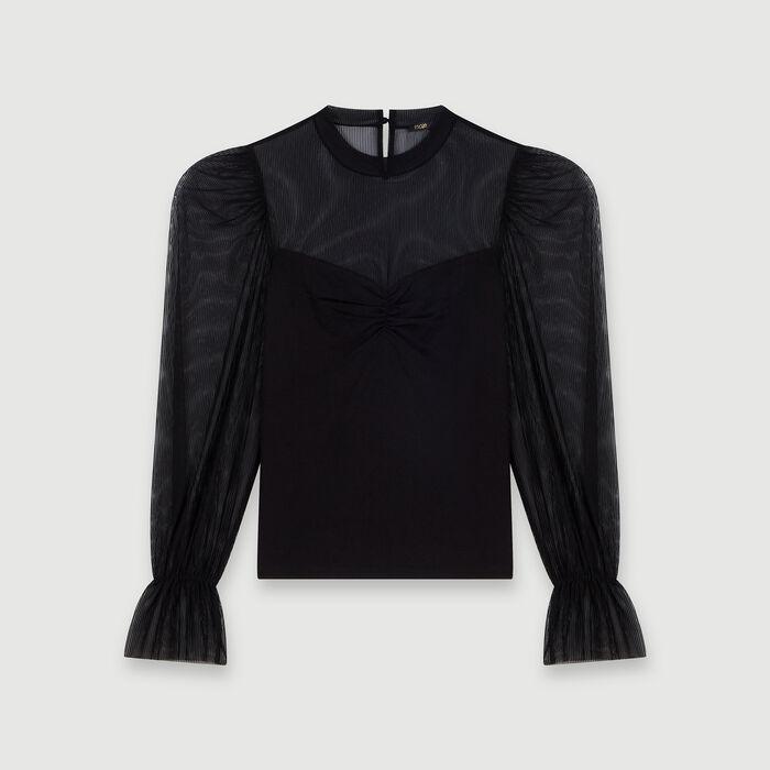 Tee-shirt trompe-l'œil : Tops & Shirts color Black