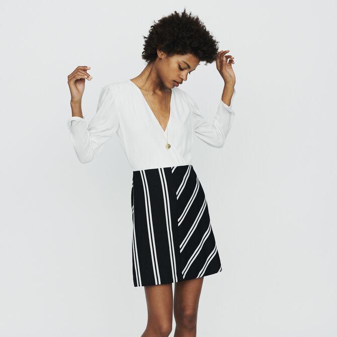 Bimaterial straight dress - staff private sale - MAJE