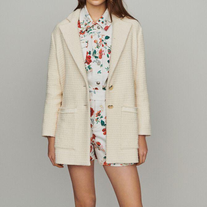 Tweed-style coat - See all - MAJE