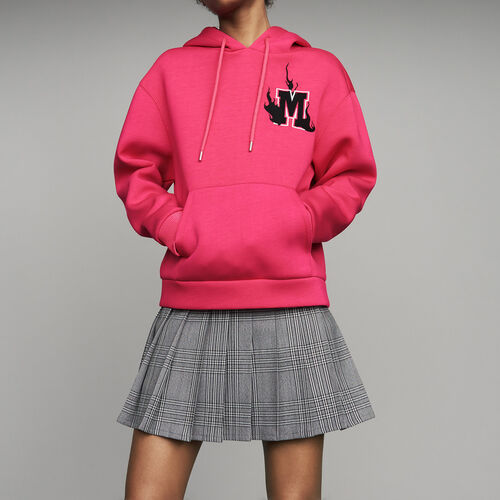 Oversize hooded sweatshirt : See all color Fuschia