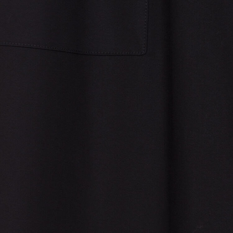 Wide high-waist pants : Trousers color Black 210