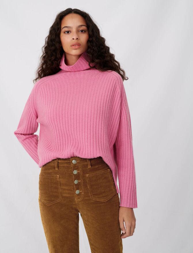 High neck cashmere sweater -  - MAJE