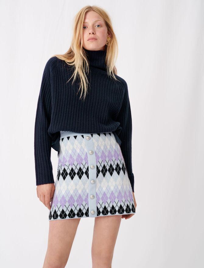 Argyle jacquard skirt -  - MAJE