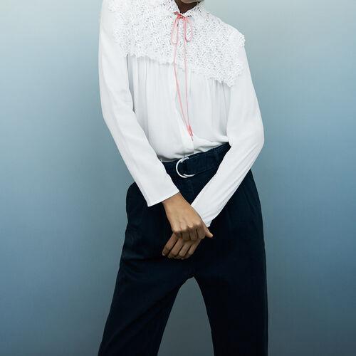 Lace shirt : Shirts color Ecru