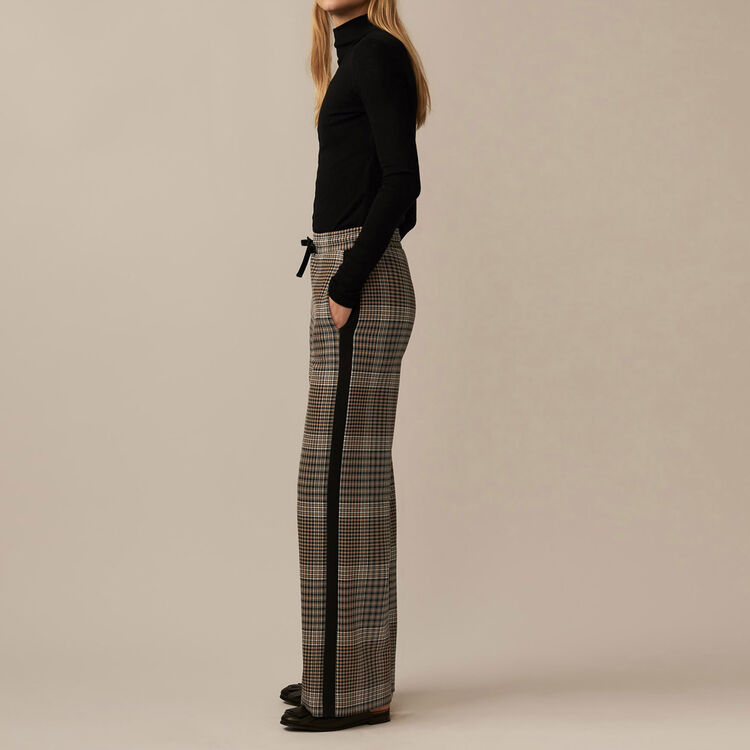 Checked jogging bottoms : Trousers color Jacquard