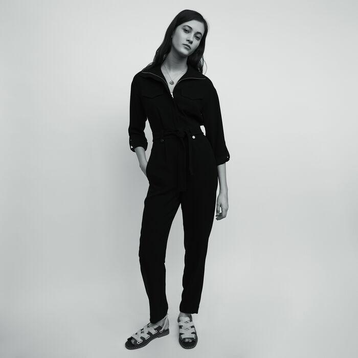 f1d89816640 PAPRITEA Crepe jumpsuit - Trousers   Jeans - Maje.com