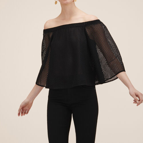 Lace top : Tops color Black 210