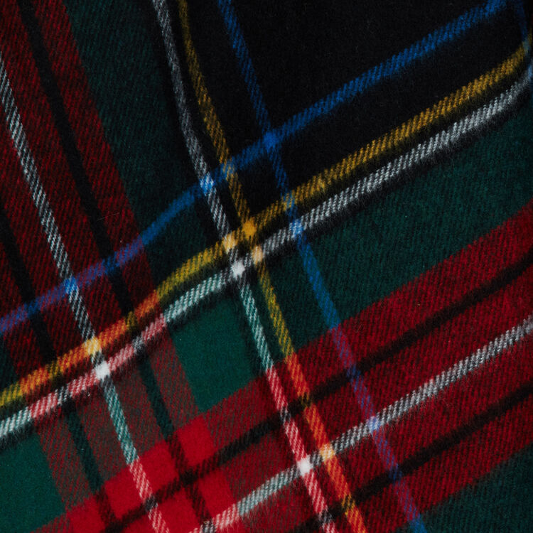 Tartan cashmere poncho : New collection color Multico