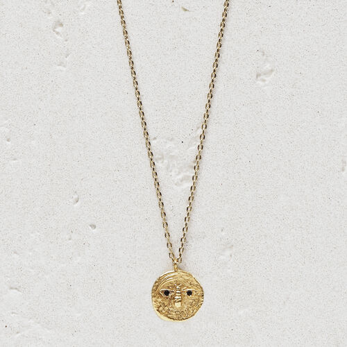 "Necklace ""Ma puce""  in gold plated : Jewelry color GOLD"