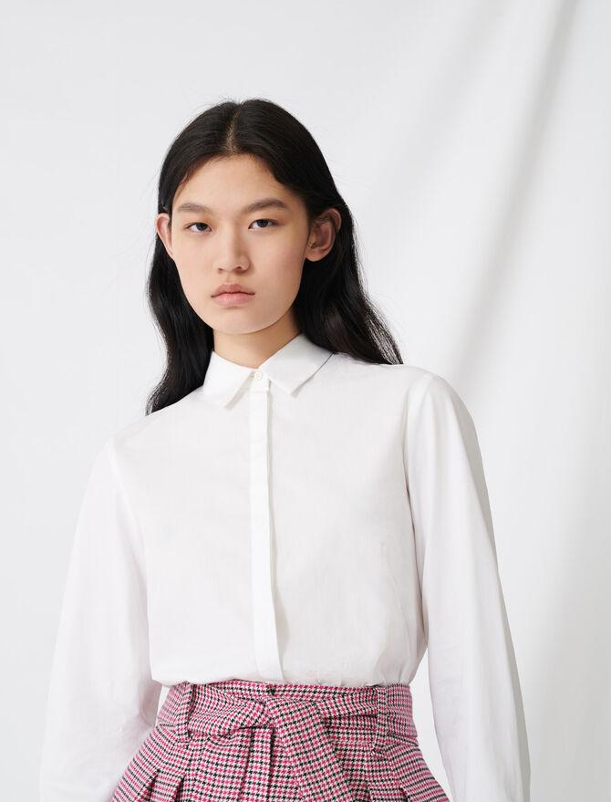 White poplin shirt - Tops & Shirts - MAJE