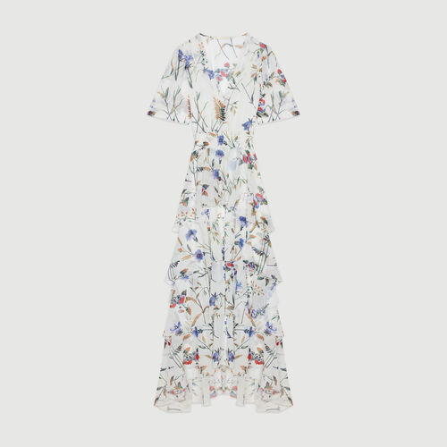 Printed long dress with ruffles : Campaign SS19 color PRINTED
