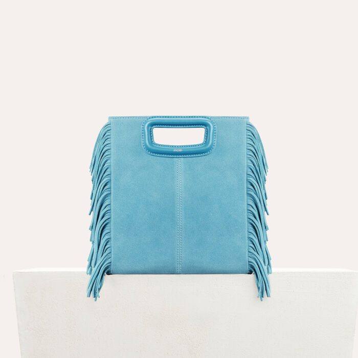 M bag in suede : New Collection color Blue