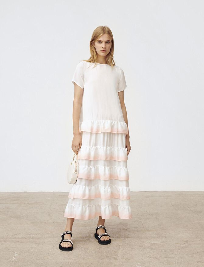 Gradated tie-dye style ruffled dress - Dresses - MAJE