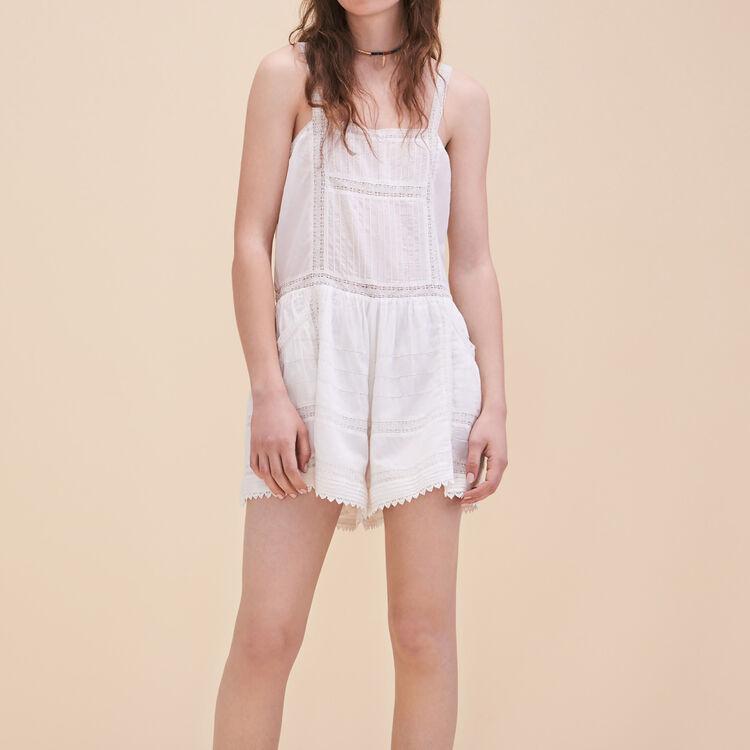 Lace playsuit : Skirts & Shorts color Ecru