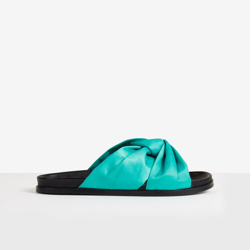 Flat sandals : Accessories color Green