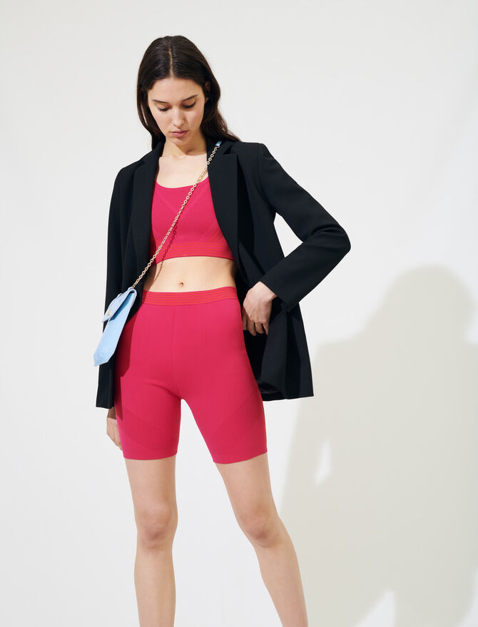 Knit cycling-style shorts - All the collection - MAJE