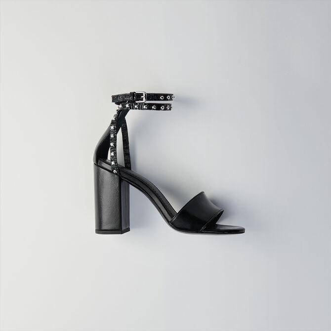 Heeled bridled vinyl sandals - staff private sale 20 - MAJE