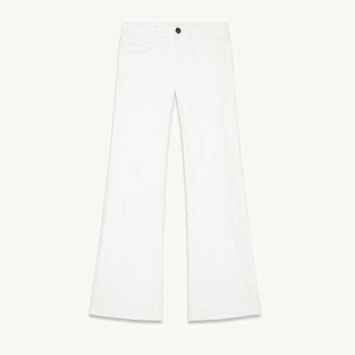 Flared stretch cotton jeans - null - MAJE