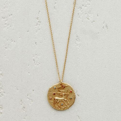 Sagittarius zodiac sign necklace : Jewelry color GOLD