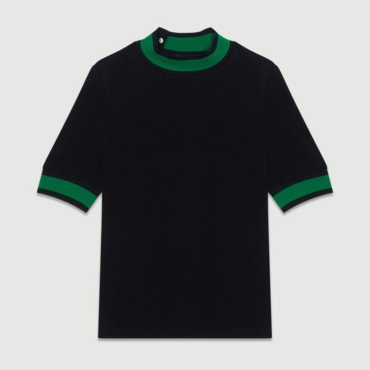 Sporty top : Tops color Black 210