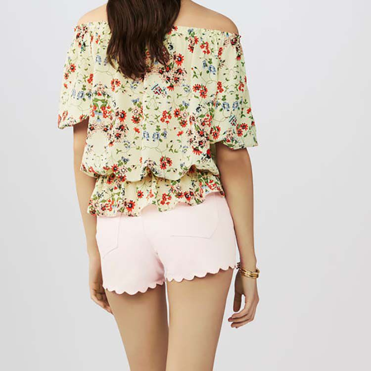 Printed silk top : Summer Collection color PRINTED