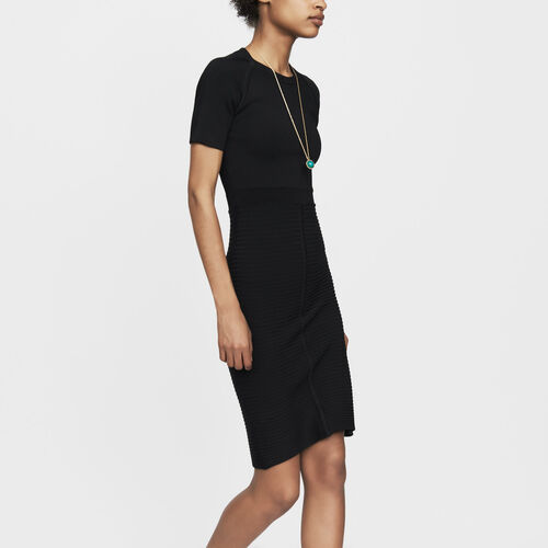 Stretch-knit dress : Ready to wear color Black 210
