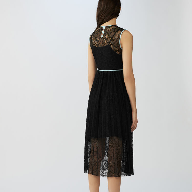 Sleeveless lace dress : Dresses color Black 210