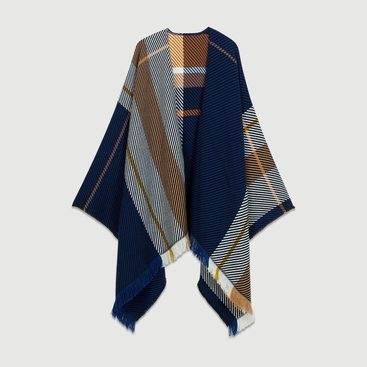 Jacquard poncho : Shawls & Ponchos color Multico