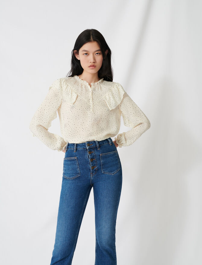Floaty blouse with romantic ruffles - Tops & Shirts - MAJE