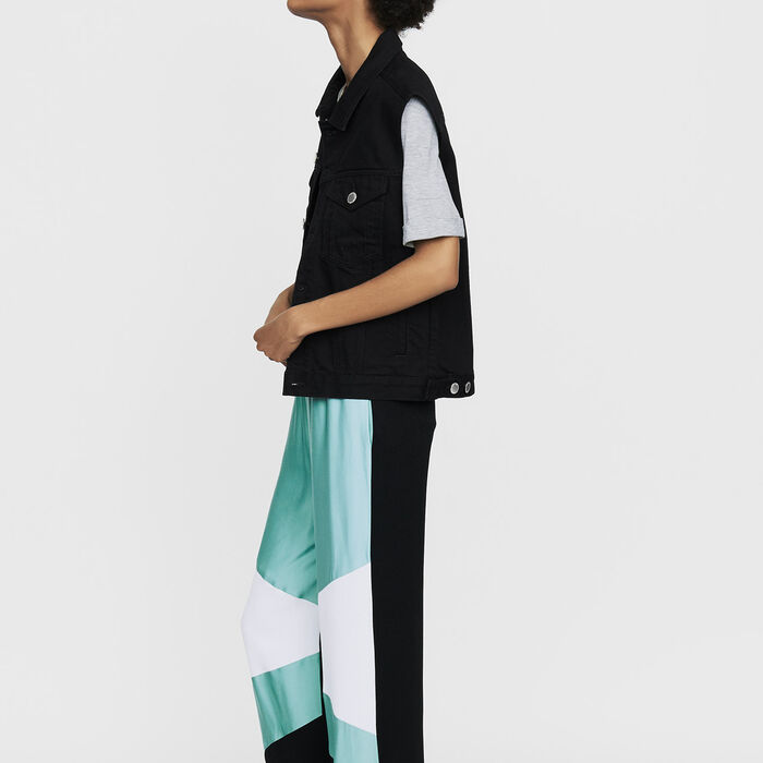 Wide multicolored pants : Trousers color Multico