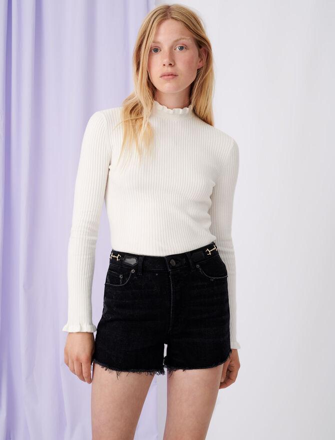 Fancy high-neck lightweight sweater -  - MAJE