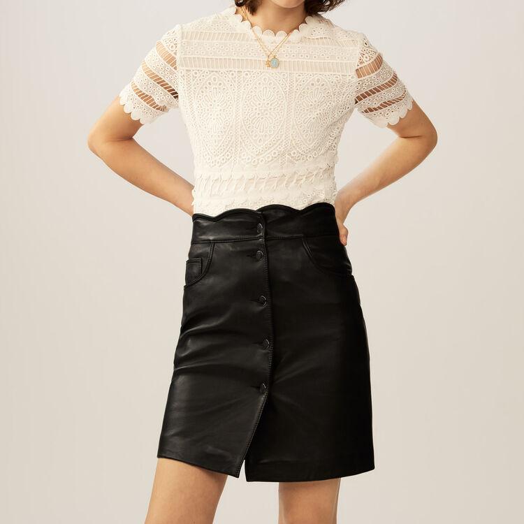 Leather skirt : Skirts & Shorts color Black 210