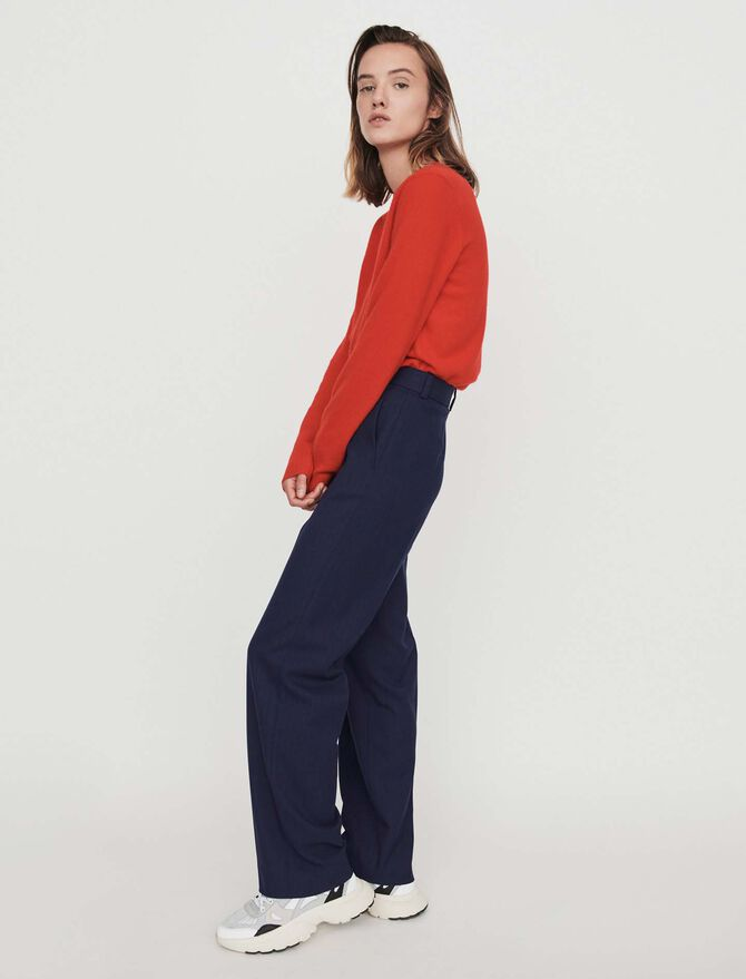 Straight-leg pants with racing stripes - Trousers & Jeans - MAJE