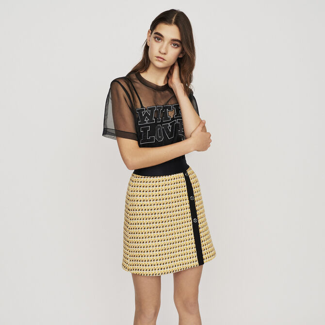 Short skirt in tweed and lurex - See all - MAJE