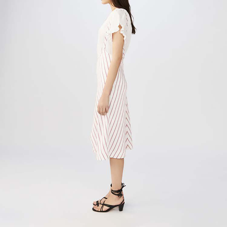 Striped dress with straps : Dresses color Stripe
