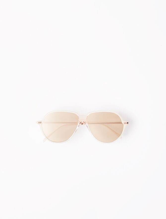 Acetate aviator sunglasses -  - MAJE