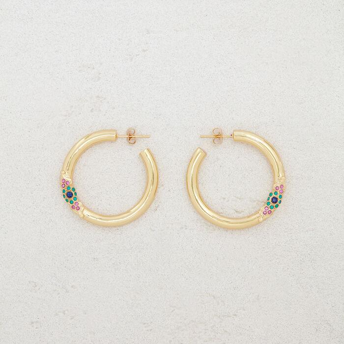 "Hoop earrings ""Eye"" : Jewelry color GOLD"